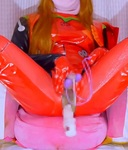 Two point blame squirting masturbation with plug suit cosplay [Evangelion Asuka] [transvestite, man's daughter]