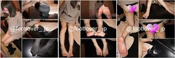【Image + barefoot video】 21 year old clinic staff 's knee socks steamed with leather boots! Bare feet! Panties!!
