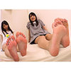 Abe Mikako-chan and Aoi Reina-chan ejaculate with a perverted M man's legs! [Foot blame documentary]