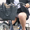 OL who does not notice underwear on a bicycle