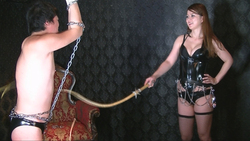 M man's King punishment! Single whip.
