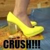 [Food crush # 6] Tsukino-chan's food crush heel / barefoot