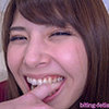 【Bite】 Shin Asami is beautiful and sturdy with a natural tooth row and a tooth shape stamp clearly! (Part 1) 【permanent preservation version】