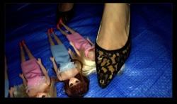 [Crush Fetish # 21] [4K] Doll Crash Black Lace Kitten Heel